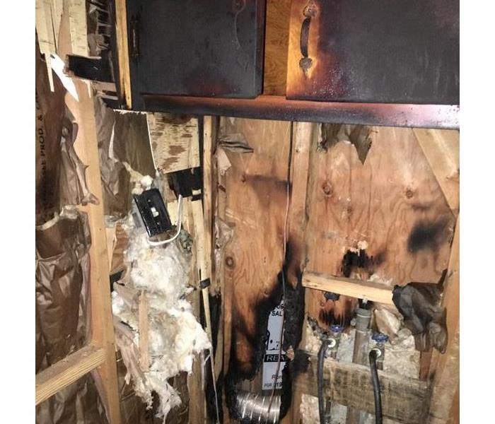 Fire Damage Residential Dryer Fire