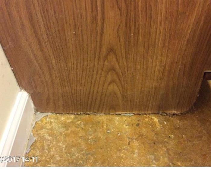 Water Damage Swelled particle board